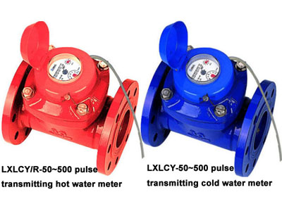 bulk removable element pulse transmitting water meter