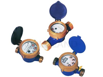 liquid sealed single jet water meter