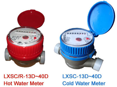 single jet dry type water meter(8roller,brass)